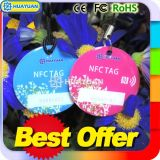 13.56MHz NFC NTAG203 NTAG213スマートなKeychainエポキシRFID Keyfob