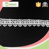 Шнурок вышивки Bridal белого флористического шнурка ткани шнурка нигерийского флористический