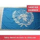 Rolar acima o poliéster da tela que anuncia a bandeira do cabo flexível