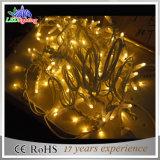 Luz de borracha ao ar livre ajustável da corda do diodo emissor de luz do cabo da decoração do feriado/Natal