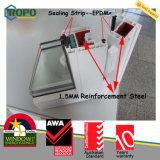 PVC 비닐 석쇠 디자인을%s 가진 이중 유리를 끼우는 충격 여닫이 창 Windows