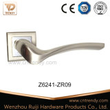 Punho de alavanca de madeira da porta de Zamak do estilo minimalista moderno europeu (Z6077-ZR09)