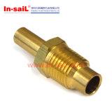 Encaixe hidráulico pneumático de bronze fazendo à máquina de giro do CNC