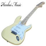 Música de Hanhai/do estilo branco do St do leite preço de venda guitarra elétrica