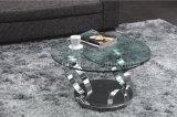Les deux premières glaces moderne tournent la table basse de fonction