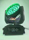 DMX RGBWA+UV LED bewegliches Hauptlicht des Summen-36*18W