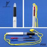 Plastique 2 de promotion d'usine dans 1 crayon lecteur de cadeau d'encre de couleur
