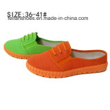 Выскальзование женщин способа нового типа дешевое на ботинках холстины впрысок (XW160611-1)