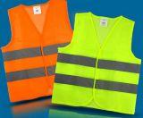 veste de confeção de malhas da segurança de tráfego da tela 100%Polyester (DFV1019)