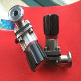 Válvula de diafragma afianzada con abrazadera manual del acero inoxidable