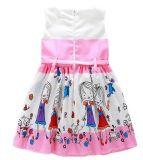子供の衣服のLovlyプリントが付いている方法女の子の服