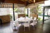 """60 """"屋外のダイニングテーブル、庭の家具"""