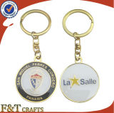 Ersonalized Doppeltes sterben Form-Gold Keychain (FTKC1035H)