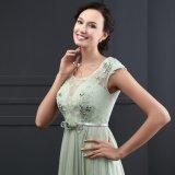 Пояс O-Шеи втулки крышки линия платье вечера (SL2013)