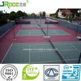 Plancher acrylique de court de tennis peint par rouleau