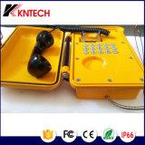 Telefono di manopola automatica marino resistente all'intemperie del telefono Emergency del telefono Knsp-01t2j
