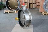 承認されるセリウムISO Wrasのステンレス鋼CF8m CF8の二重フランジの蝶弁(CBF01-TF01)