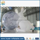 عملاق قابل للنفخ قمر كرة, منطاد قابل للنفخ مع أرنب لأنّ حادث