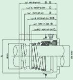 Механически уплотнение резиновый Bellow (HG9)