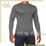 건조한 적합 나일론 캐주얼 셔츠 체조 Mucle 적당한 긴 소매 t-셔츠