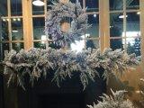 Коммерчески большой венок для рождества с Pre освещать и Deco (имеющиеся образцы)