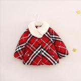 Colore tre negli indumenti di qualità superiore cappotto & rivestimento del cotone del plaid per i bambini