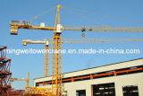 最大負荷が付いている構築機械タワークレーンQtz63 (5610): 6t/Tipロード: 1.0t/Jib長さ: 56m