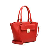 Leather genuino Shoulder Handbag con Square Lock (MBNO038007)