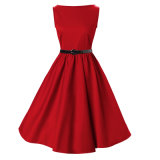 2017 projetar o vestido vermelho do baile de finalistas do partido de noite a mais atrasada do fabricante para a mulher