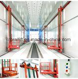 محترفة ذاتيّ اندفاع يرشّ غرفة شاقوليّ [3-إكسيس] من رجل مصعد