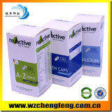 Cajas de papel de la vitamina con la plata estampado en caliente