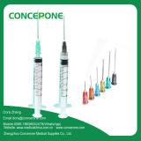 Wegwerfmedizinische Spritze 3ml/Cc mit Cer ISO anerkannt