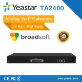 Entrada análoga del SORBO de los puertos de la entrada 32 FXS de FXS VoIP (NeoGate TA3200)