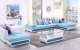 Salas de estar de la PU y del sofá de la tela