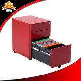 Zusammengebaute Qualität unter Schreibtisch-Stahlbüro-Metallmobiler Schrank-beweglichen füllenden Schränken