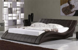 2015 projeto elegante moderno Best-Selling Leather Bed adulto enorme (HCM022)