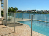 Ventana / Borrar decorativo laminado de vidrio para piscina Valla