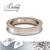 Het Kristal van de Juwelen van het lot van Unisex- Briljante Ring Swarovski Met twee tonaliteiten