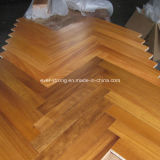 Revestimento de madeira projetado do parquet carvalho de madeira Herringbone