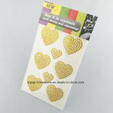 De Stickers van het Bergkristal van de Overdrukplaatjes van het Kristal van de Elementen van de Stickers van het Kristal van de Vorm van het hart voor Lichaam (ts-550)