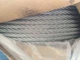 다중 물가에 의하여 직류 전기를 통하는 철강선 밧줄 6X37+ Iwrc