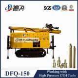 Plataforma de perforación portable del pozo de agua de la correa eslabonada de la alta calidad Dfq-150