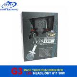 Faróis do diodo emissor de luz de H11 3000lumens 30W 6000k G3 V16 Turbo para carros
