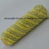 노란 기본적인 Ployamaid 페인트 롤러에 더미 18mm 녹색 줄무늬
