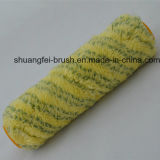 Нашивка кучи 18mm зеленая на желтом низкопробном ролике краски Ployamaid