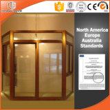 Алюминиевое одетое деревянное представление окна залива & смычка превосходное на Жар-Изоляции, ядровом доказательстве, и закрепленности воздуха