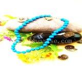 간단한 형식 파란 자연적인 터키석은 목걸이를 구슬로 장식한다