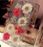2016新製品のiPhone 6の6s携帯電話カバーケースのためのハンドメイドの実質の花TPU/のシリコーンの電話箱