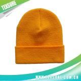 Gorritas tejidas reversibles hechas punto de acrílico del sombrero del invierno del color negro (036)