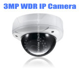 3MP WDR Dome Vandal-Proof CCTV de seguridad de red de la cámara IP con Audio y Alarma